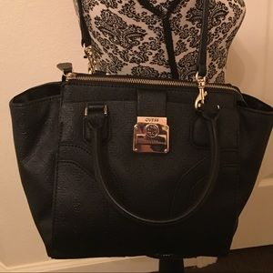 Guess black printed purse